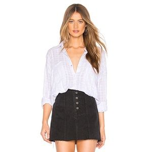 Free People White Loveland Button Down